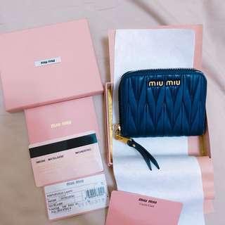 Miu Miu深藍色零錢包