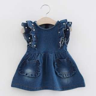 Denim Dress for Baby Girls