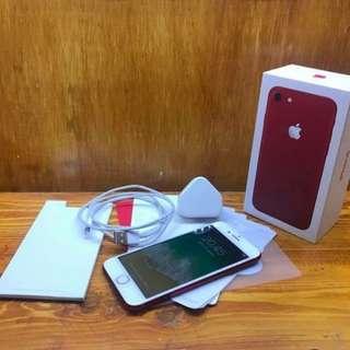 [ MURAH ] iPhone 7 128gb Red Fullset + Free Ongkir