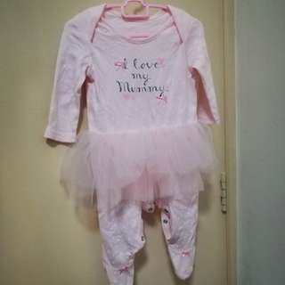 George UK Tutu Sleepsuit Size 3-6 Months