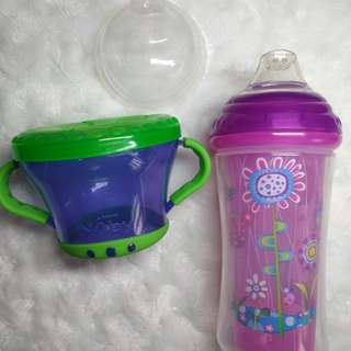 Nuby insulated sippy cup and snack keeper
