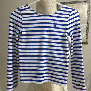 POLO RALPH LAUREN stripe top