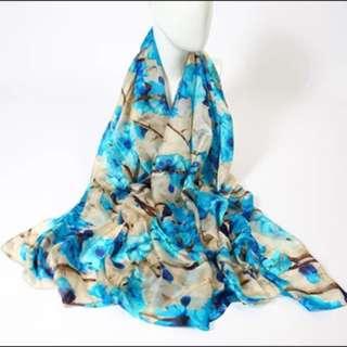 New 180x110cm silk scarf 真絲圍巾