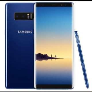 Samsung note 8 藍色256g