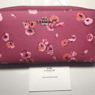 全新長銀包New Coach Wallet Floral Print