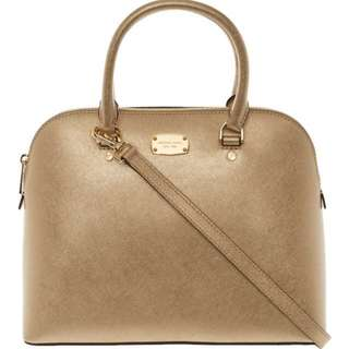 [preorder] Micheal Kors Gold satchel bag