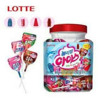 🚚 韓國樂天冰淇淋棒棒糖桶裝(一桶70個)770g