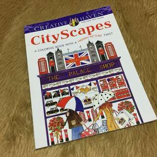 City Scapes Adult Coloring Book