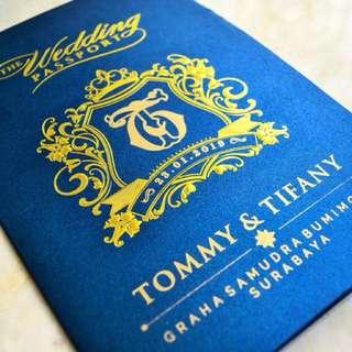 Undangan pernikahan - Wedding Passport