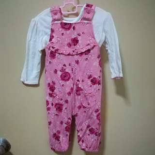 George UK Dungarees and Top Set Size 3-6 Months