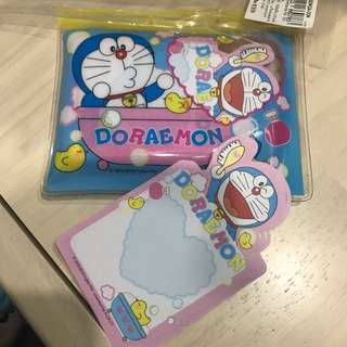 Doraemon pouch with note pads