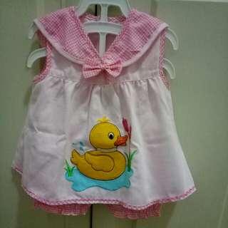 Dress pink duck