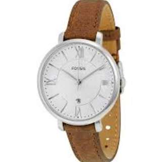 Fossil ES3708 Jacqueline Brown Leather Quartz Watch Women - COD FREE SHIPPING