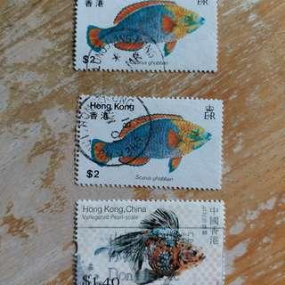 香港1997年前已銷郵票3枚