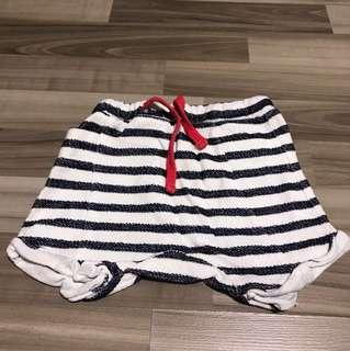 bn seed heritage stripes harem shorts for 12-18 months