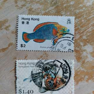 香港1997年前已銷郵票2枚