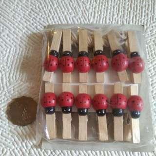 木夾12個連繩