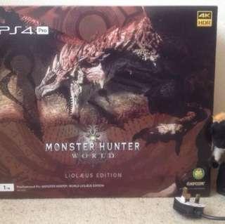 PlayStation 4 pro monster hunter: world LIOLAEUS edition Sony japan New