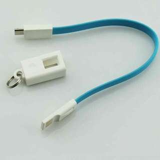 keychain flat cable   for iphone for android