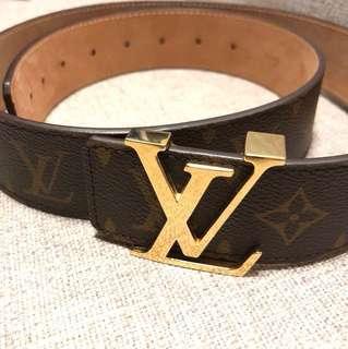 LV Louis Vuitton 皮帶 leather belt 100% authentic