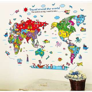 🗺 KIDS STICKER WALL MAP 🗺
