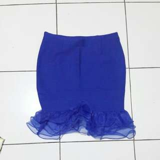 Rok ruffle blue