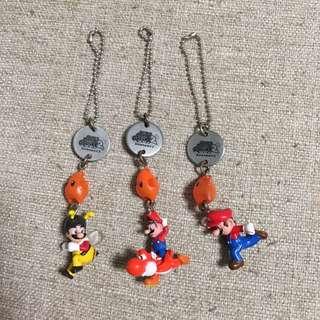 MTR Mario 孖寶兄弟 鎖匙扣 3個