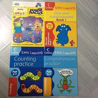 3-7y Math & Eng practice x4
