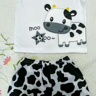 Baby boy cute milk cow set wear