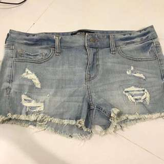Express Hotpants Ripped Jeans