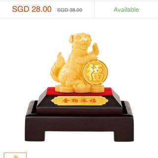 BN 999 Gold Dog Figurine