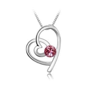 Swarovski elements romance love necklace