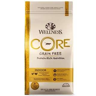 Wellness Core Indoor Cat Food 5lb $48/11lb $80