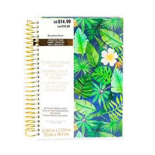 Navy Tropical Mini Planner