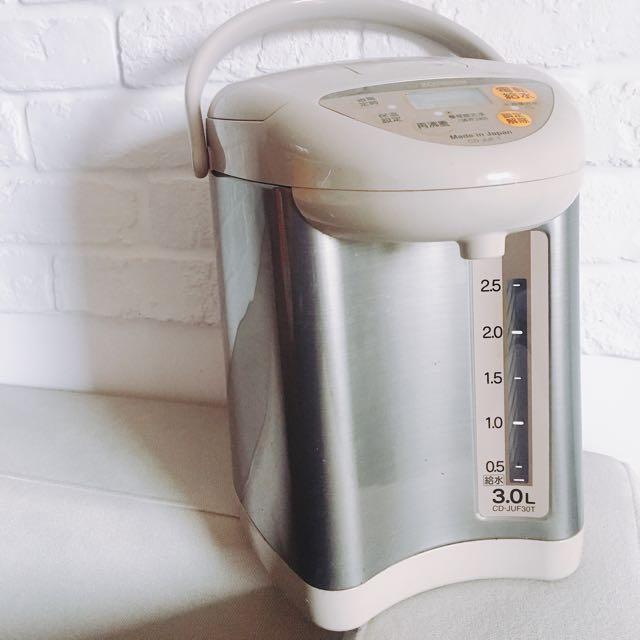 (二手)日本製造象印3L公升微電腦三段式電動熱水瓶CD-JUF30T泡咖啡母牛奶好幫手