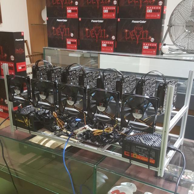 8 GPU Low Power & High Performance Mining Rig - Ready Stock