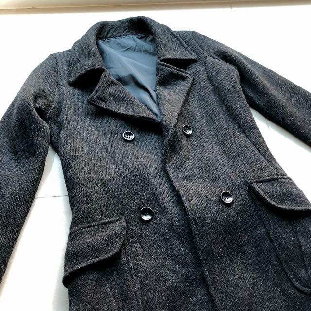 簡約修身 百搭雙排扣綁帶大衣
