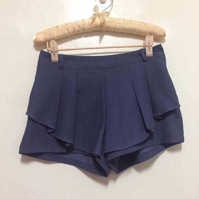 藍色造型褲裙