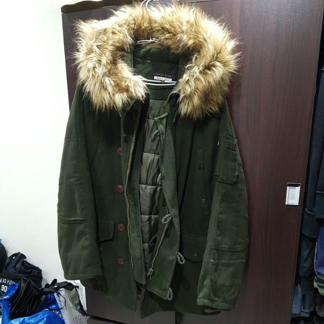 軍裝羊毛大外套