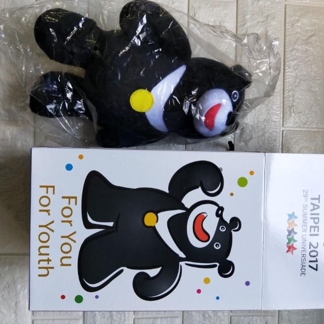 世大運 官方熊讚娃娃 2017台北世大運