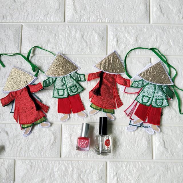 越南聖誕吊飾 指緣油 指甲油 越南買的 聖誕節