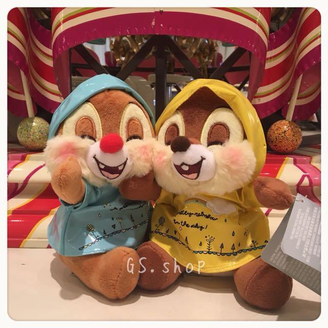 🇭🇰代購 香港迪士尼 ✨ 奇奇 蒂蒂  雨衣🌧️ 造型 娃娃 公仔 gs.shop