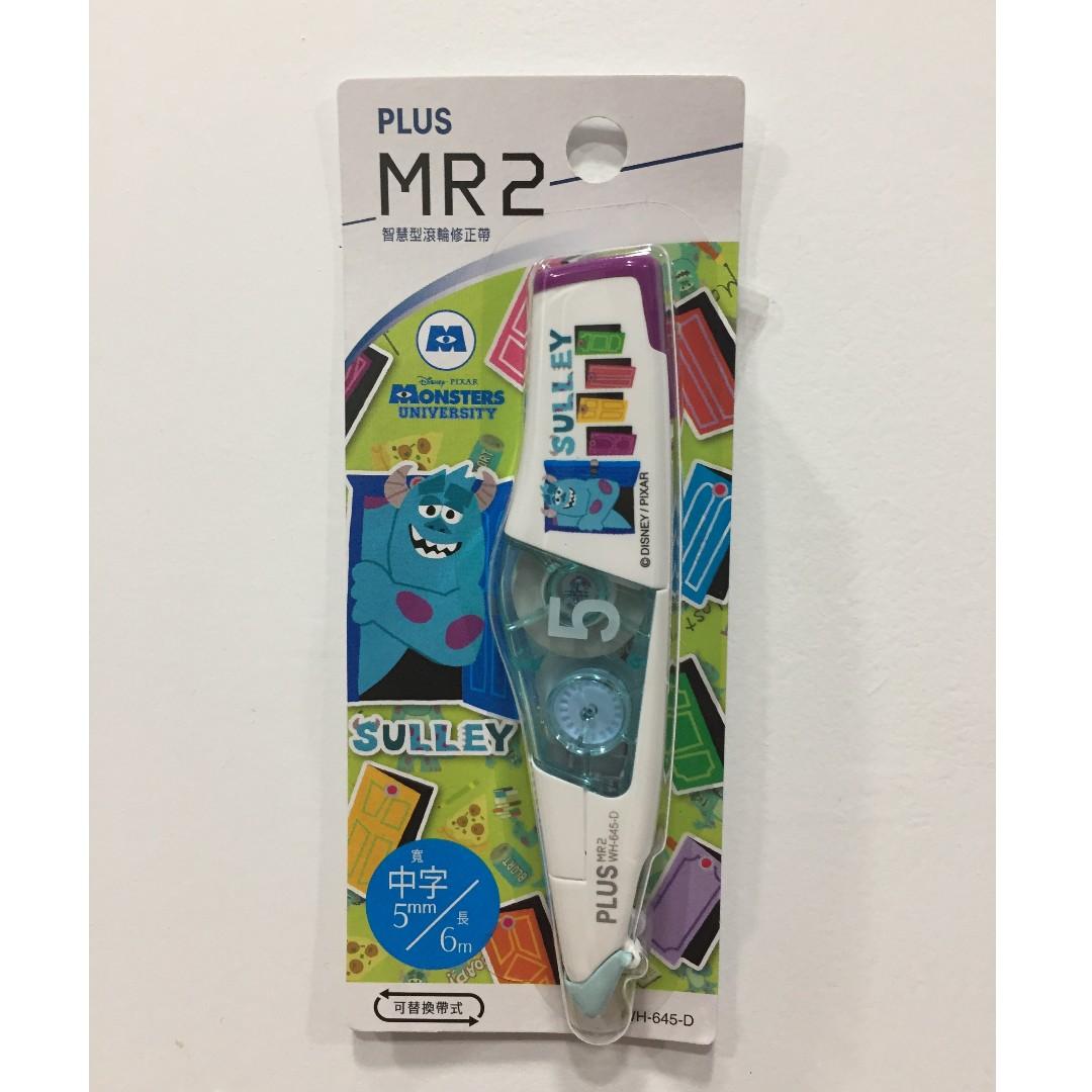毛怪 怪獸大學 PLUS普樂士MR2 智慧型滾輪修正帶限定版立可帶 DISNEY 迪士尼 Sulley Monsters
