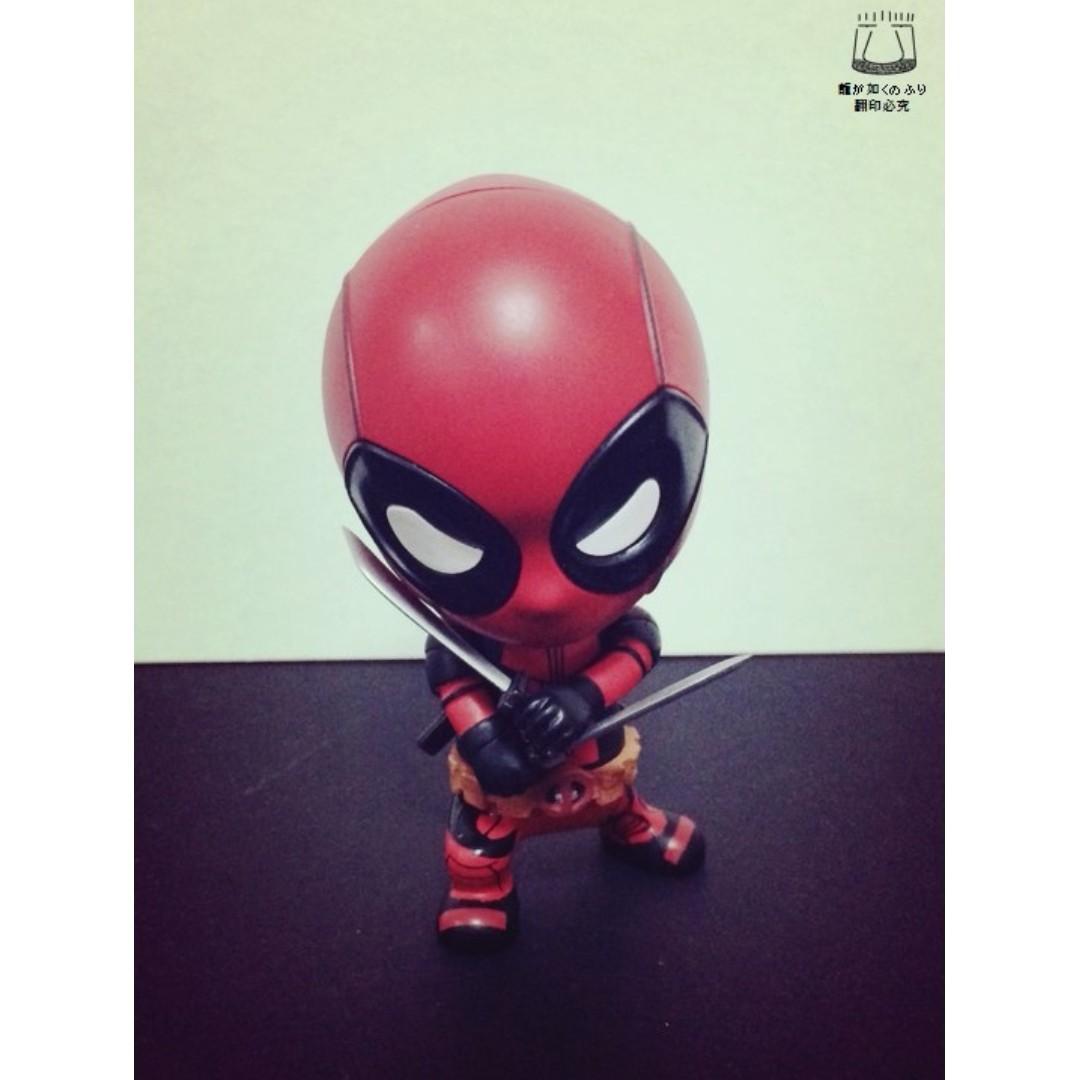 死侍 Deadpool 漫威 惡棍英雄 雙刀款 搖頭娃娃 Q版 迷你人偶 公仔 景品 汽車 擺飾 非 復仇者聯盟 蜘蛛人