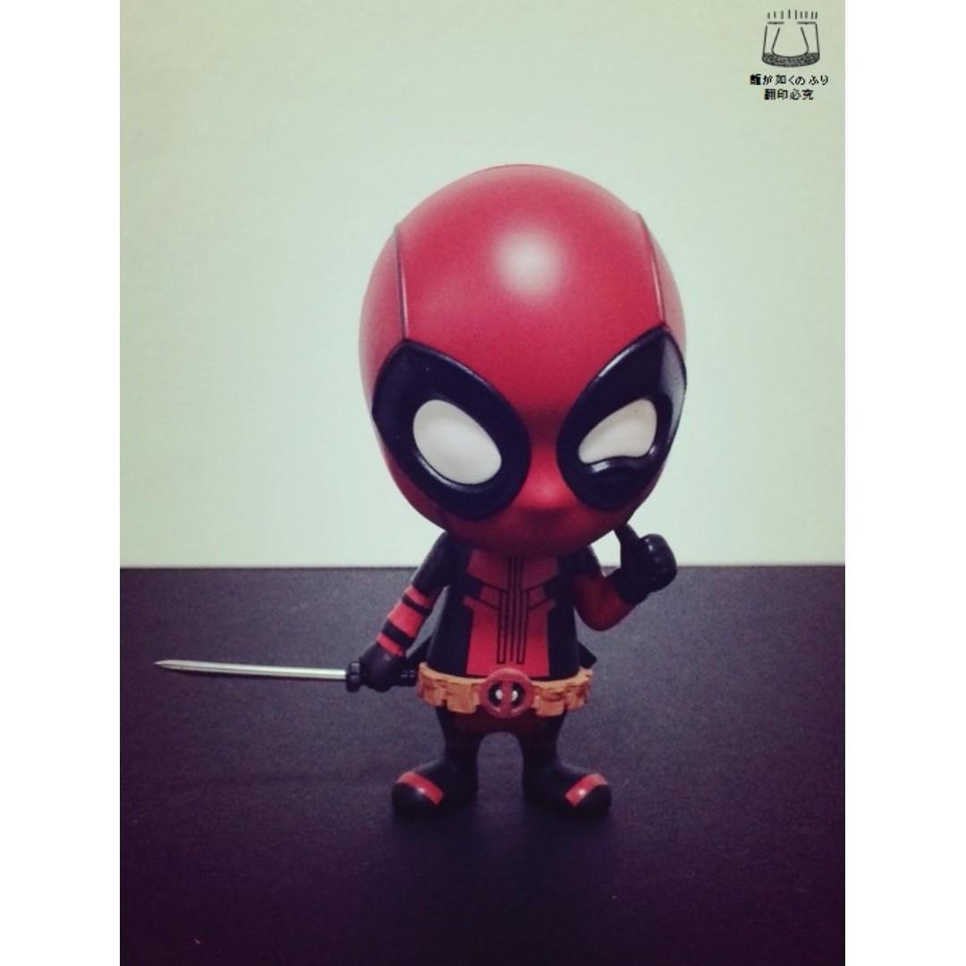 死侍 Deadpool 漫威 惡棍英雄 單刀款 搖頭娃娃 Q版 迷你人偶 公仔 景品 汽車 擺飾 非 復仇者聯盟 蜘蛛人