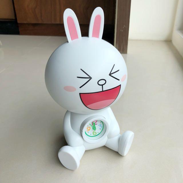 (全新) LINE 兔兔 限量 時鐘 存錢筒 撲滿
