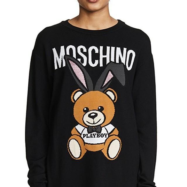 全新含購證 Moschino 小熊長版上衣