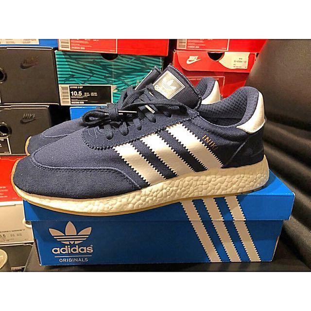 Adidas 愛迪達 Iniki runner boost navy 深藍 慢跑鞋