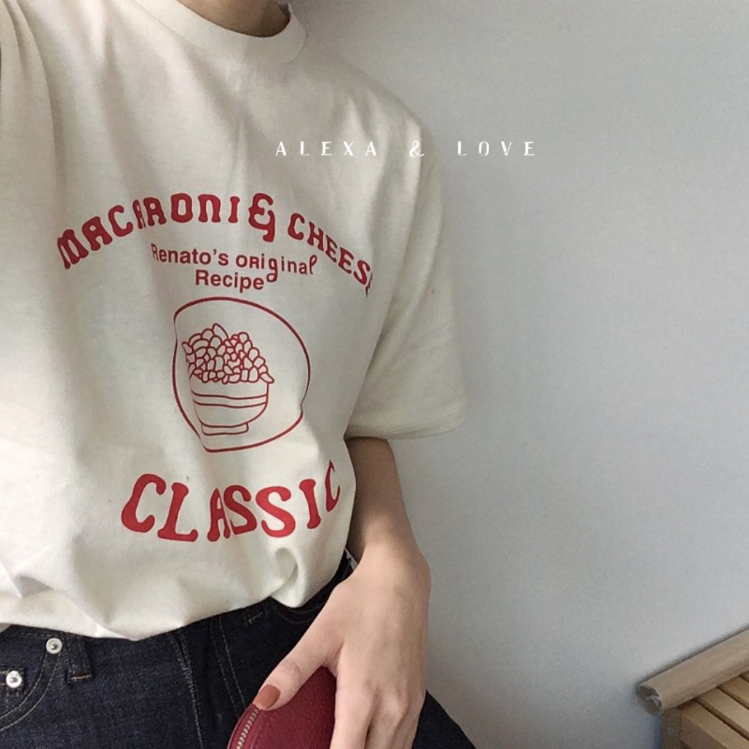 Alexa&Love 春夏韓系卡通字母短袖T恤TEE(二色特)