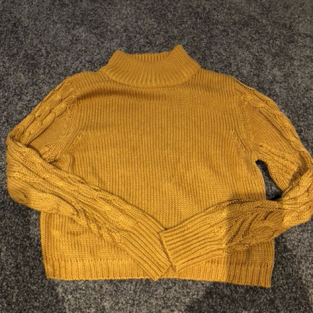 All About Eve Mustard Knit